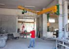 Articulated wall jib cranes